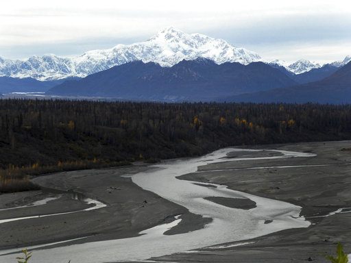 North America's tallest peak, Denali, is seen from a turnout in Denali State Park, Alaska. (AP/Becky Bohrer)