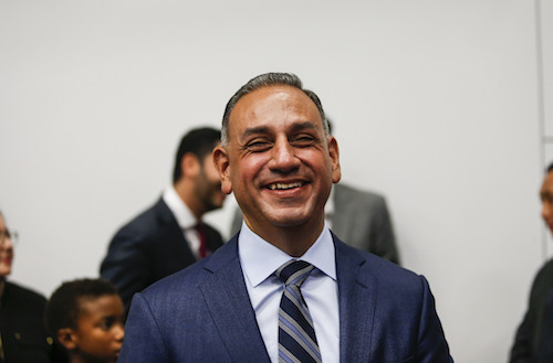 California congressional candidates Gil Cisneros attends at the Take It Back California event where former President Barack Obama campaigns in support of California congressional candidates, Saturday, Sept. 8, 2018, in Anaheim, Calif. (AP)