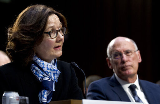 CIA director Gina Haspel and Director of National Intelligence Daniel Coats arrive to testify before the Senate Intelligence Committee on Jan. 29, 2019. (AP)