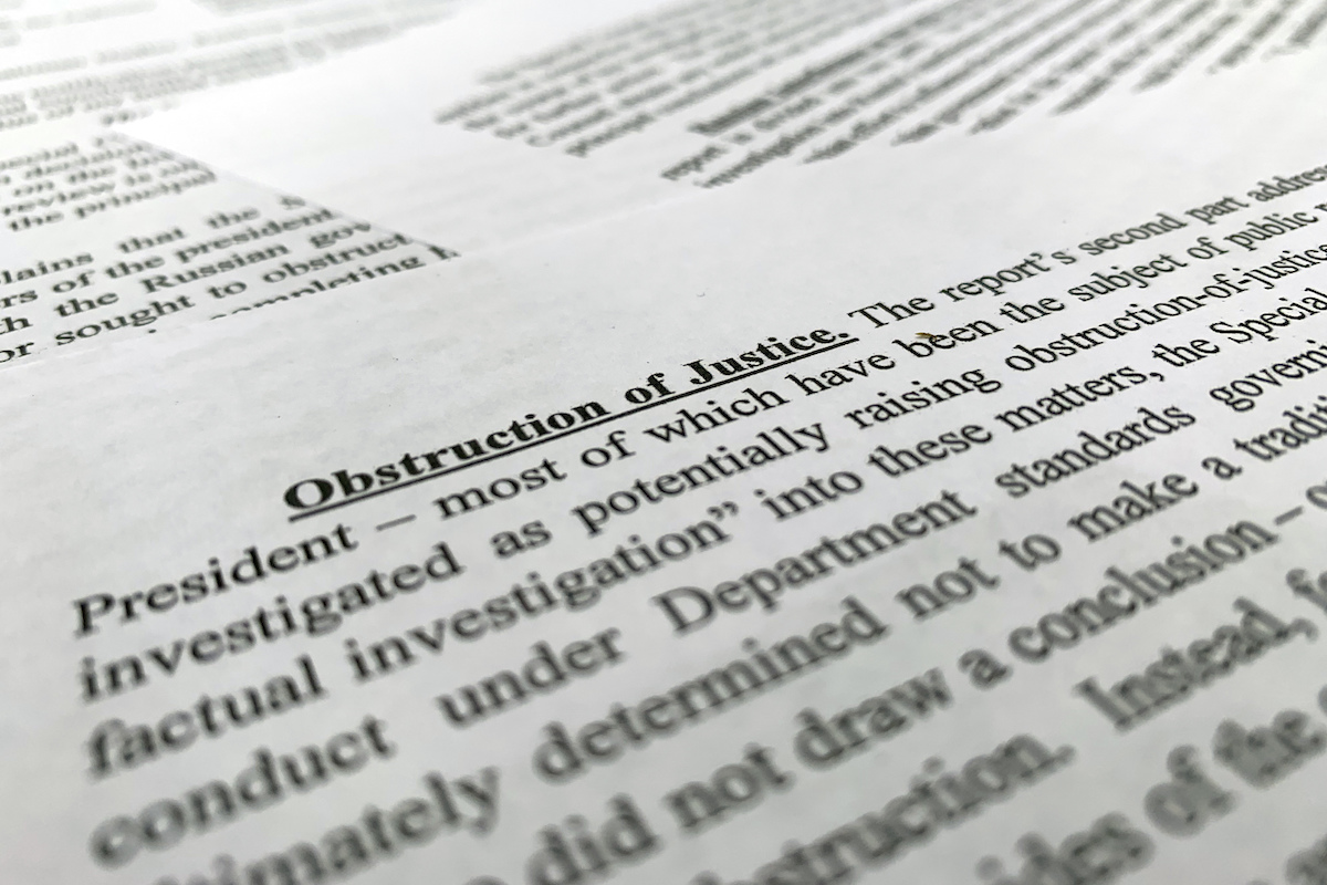 The letter from Attorney General William Barr to Congress on the conclusions reached by special counsel Robert Mueller in the Russia probe photographed on March 24, 2019. (AP)