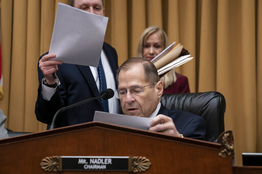 House Judiciary Committee Chair Jerrold Nadler, D-N.Y., moves ahead with a vote to hold Attorney General William Barr in contempt of Congress on May 8, 2019. (AP)