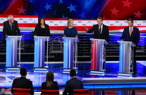 The Democratic debate on June 27, 2019, in Miami. (AP)