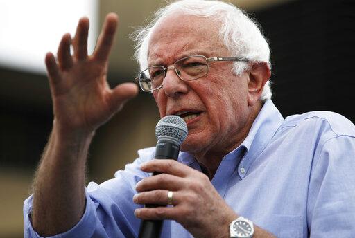 Democratic presidential candidate Sen. Bernie Sanders, I-Vt., speaks at the Iowa State Fair in Des Moines Aug. 11, 2019. (AP)