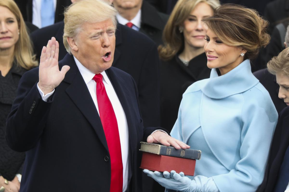 Donald Trump is sworn in as the 45th president of the United States. (AP)