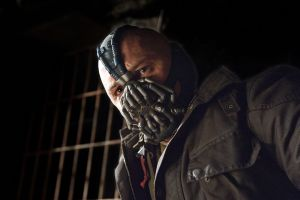Bane, a super-strong prison escapee, is the villain in Dark Knight Rises. (AP photo)