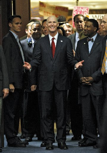 Rick Scott delivered his second State of the State address on Jan. 10, 2012.