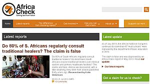 A group of journalists in South Africa recently started the website Africa Check.