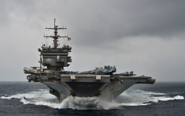 The aircraft carrier USS Enterprise, now inactive, shown on March 19, 2012. (U.S. Navy)