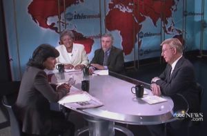 Christiane Amanpour talks with Donna Brazile, Paul Krugman and George F. Will.