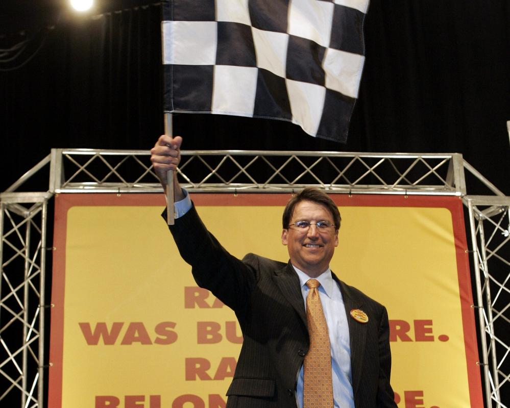 Yes, you can wave the checkered flag, Gov. Pat McCrory, PolitiFact North Carolina is headed your way. (AP)