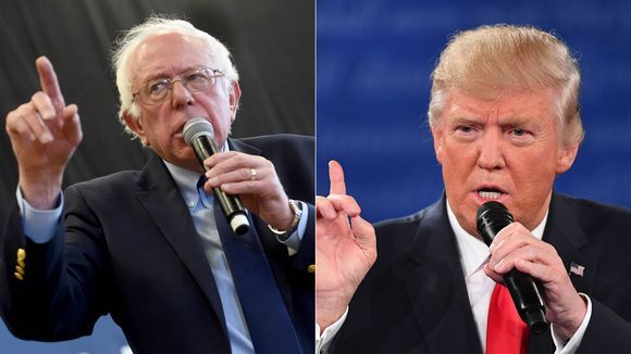 Both Bernie Sanders (left) and President Donald Trump have sought out small-dollar contributions in their campaigns for president.