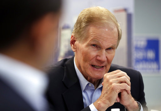 Sen. Bill Nelson, D-Fla., speaks during a roundtable discussion with education leaders from South Florida at the United Teachers of Dade headquarters, Aug. 6, 2018, in Miami. (AP)