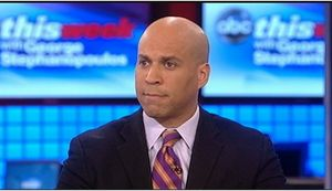 """Newark Mayor Cory Booker said on ABC's """"This Week with George Stephanopoulos"""" that """"there are still thousands of Americans that are being murdered every single day."""" But that's not correct."""