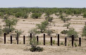 Sections of the fence on the Mexico border, like this one near San Miguel, Ariz., are designed primarily to stop vehicles.