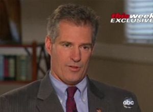 Scott Brown was interviewed by Barbara Walters on ABC's 'This Week.'
