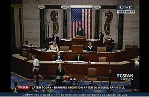 The U.S. House of Representatives begins debate on a bill limiting abortion.