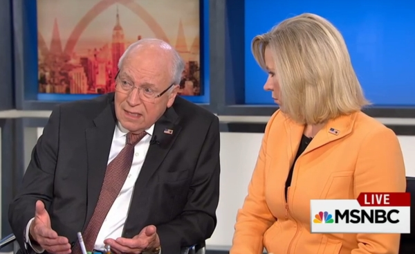 """Former Vice President Dick Cheney and his daughter Liz Cheney appeared on MSNBC's """"Morning Joe"""" on Sept. 2, 2015."""