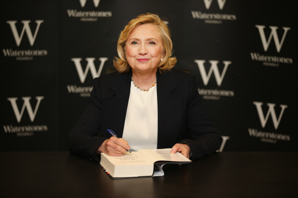 Hillary Clinton signs copies of her new book on July 3, 2014 in London, England.
