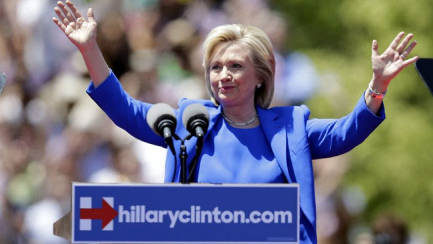 Hillary Clinton's position on trade has dogged her, but her campaign chairman says her position is clear. (AP)