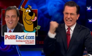 Colbert says Christie lied to a constituent about his past.