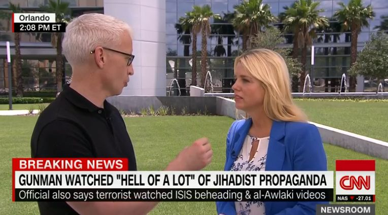This interview between CNN's Anderson Cooper and Florida Attorney General Pam Bondi went viral due to Cooper's aggressive questioning of Bondi's past stances on LGBT issues.