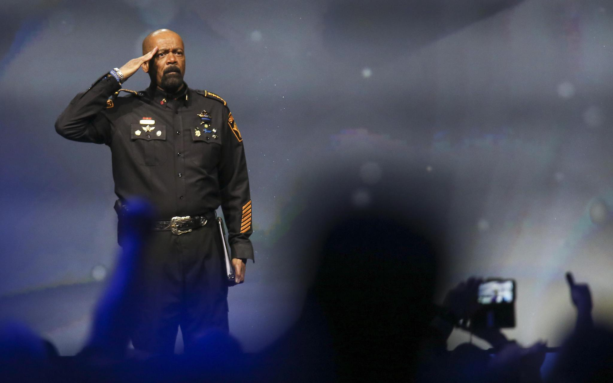 Milwaukee County Sheriff David Clarke spoke at the NRA-ILA Leadership Forum in Louisville, Ky., in 2016. (USA Today Network)