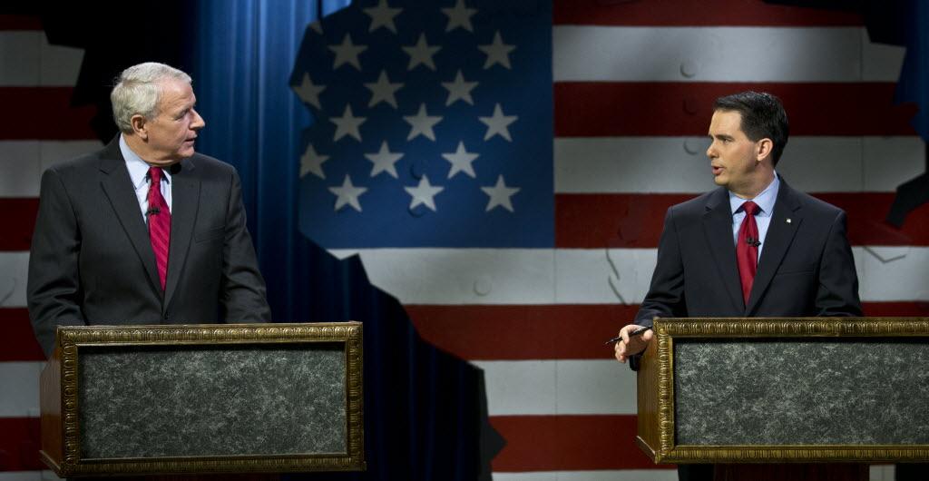 Democrat Tom Barrett faces Republican Gov. Scott Walker in the June 5, 2012 recall contest.