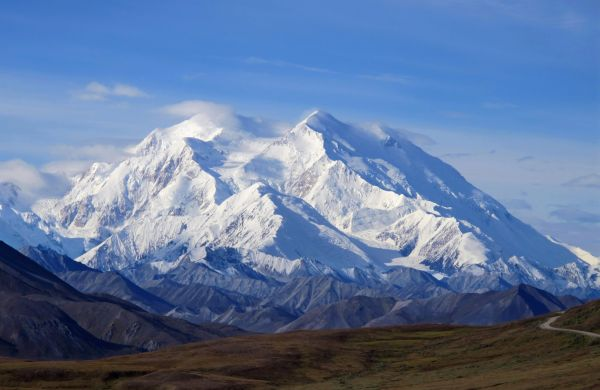 The Alaskan mountain newly renamed Denali inspired a ridiculous social-media graphic that we debunked in September. (AP/Becky Bohrer)
