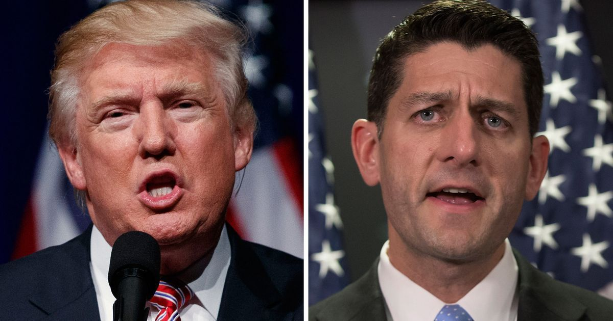 Fact checks we did on the Republican replacement for Obamacare that was pushed by President Donald Trump (left) and House Speaker Paul Ryan attracted big page views in March 2017.