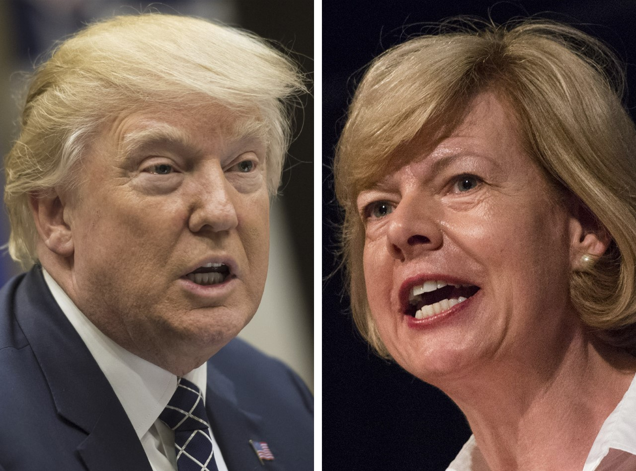 President Donald Trump and U.S. Sen. Tammy Baldwin were part of our most-clicked fact checks in January 2018.
