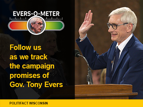 Tony Evers was sworn in as Wisconsin governor Jan. 7, 2019.