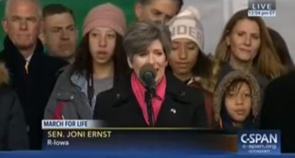 The signature ad of the Iowa Senate race plays up Republican Joni Ernst's skills in castrating hogs.