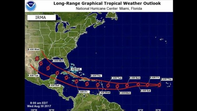 A Map Showing Hurricane Irma On A Path To Hit Houston Is Fake News