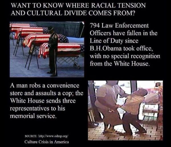 Meme Says Barack Obama Has Given No Special Recognition To Police