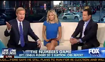 "The ""Fox and Friends"" group talked about alleged rigging of the September 2012 jobs report on their Nov. 19, 2013, show."