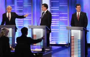 The candidates debate in New Hampshire.
