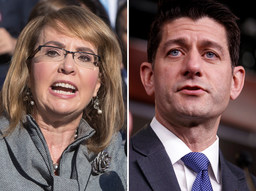 A group named for former U.S. Rep. Gabrielle Giffords claimed Paul Ryan blocked all actions to strengthen gun laws.