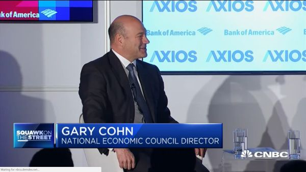 Gary Cohn said the White House tried to repeal the carried interest tax break for hedge funds, but it failed because lawmakers were too solicitous to Wall Street lobbyists.