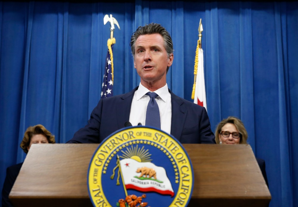California Democratic Gov. Gavin Newsom speaks at a news conference in Sacramento, Calif., Tuesday, July 23, 2019. (AP Photo/Rich Pedroncelli)