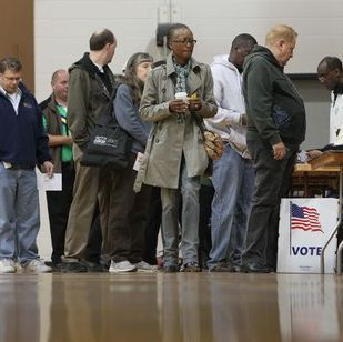 These Georgians voted this morning at Grady High School in Atlanta. Did you vote?