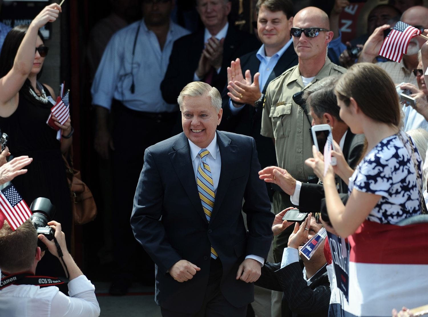 U.S. Sen. Lindsey Graham announces his bid for the presidency on June 1, 2015, in Central, S.C. (AP Photo)