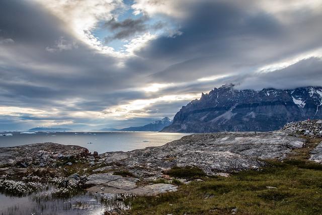 The coastline of Greenland in 2018. (Helen, via Flickr Creative Commons)
