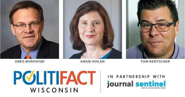 Panelists at the event will be (from left) PolitiFact Wisconsin editor Greg Borowski, PolitiFact national editor Angie Holan and PolitiFact Wisconsin reporter Tom Kertscher