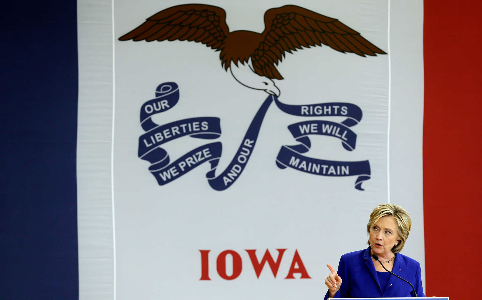 Democratic presidential candidate Hillary Clinton speaks in Iowa, a state where two supporters shared rumors about President Obama's religion in 2007. (AP)