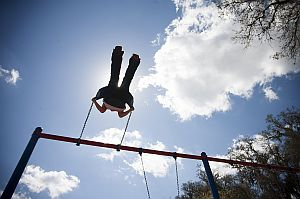 A child at a Head Start program in Hernando County, Florida, plays on a swing. The programs are facing cuts under the sequester. (Tampa Bay Times photo)