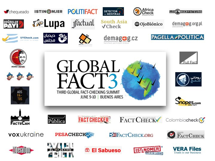 Fact-checking organizations around the world attended Global Fact 3, a project of the International Fact-Checking Network at Poynter. (Image: IFCN)