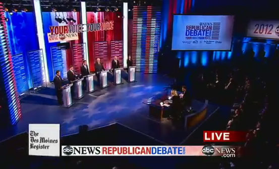 The Republican presidential candidates debated Saturday night in Iowa.