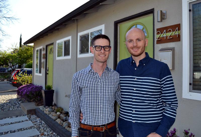Jack and Joe Boniwell, right, faced hurdles as millennials entering Sacramento's housing market. Chris Nichols / PolitiFact California