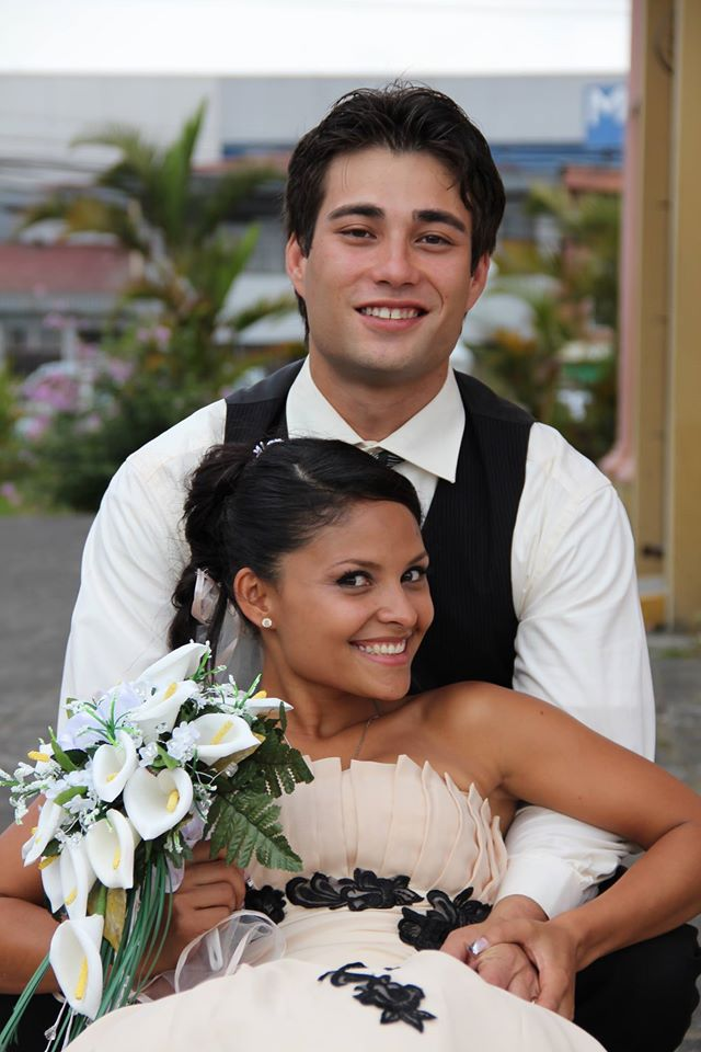 James McDaniel, shown here with his wife, Guiselle Alzamora, at their 2014 wedding, started a fake news website called UndergroundNewsReport.com on Feb. 21, 2017. He wrote deliberately false stories to see how quickly they spread online. (Handout photo)