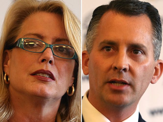 Kathleen Peters, left, and David Jolly will go before Republican primary voters on Jan. 14.
